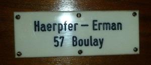 signature de la grande Manufacture Haerpfer-Erman-Dalstein de Boulay