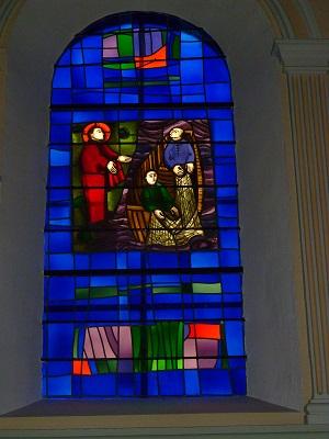 La vocation de St. Pierre à l'occasion de la pêche miraculeuse (Evangile selon St. Luc, chapitre V, versets 1-11)
