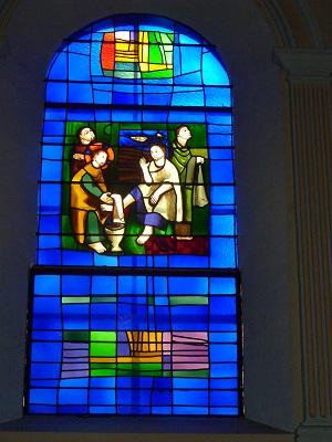 Le lavement des pieds (Evangile selon St. Jean, XIII, versets 1-15)