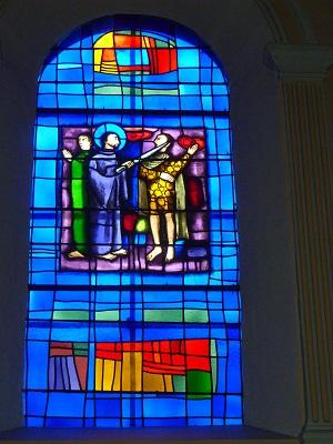 St. Pierre tranche l'oreille au soldat Malchus (Evangile selon St. Luc, XXII, versets 51-52)