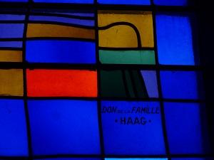 Détail du vitrail 8 - don de la famille Haag