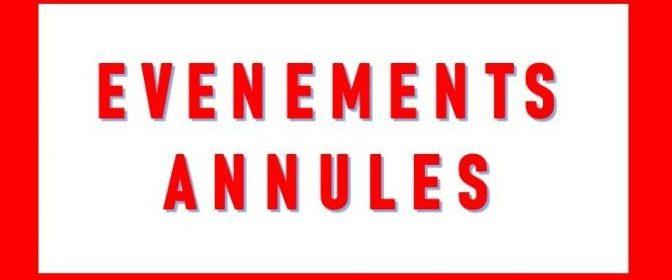 Évènements annulés
